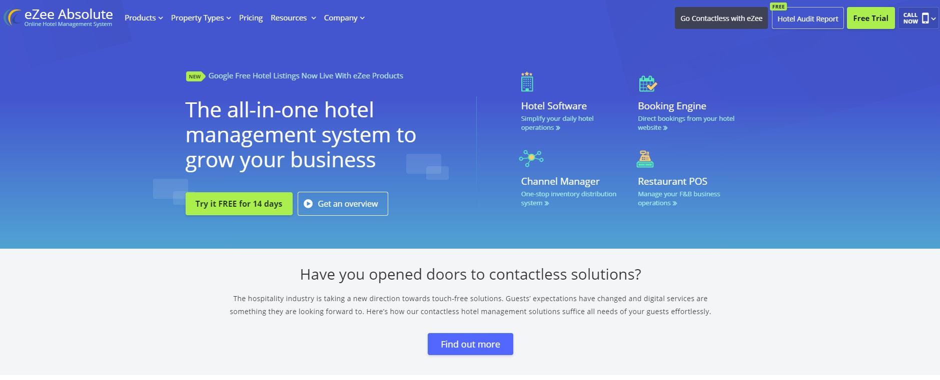 04_A screenshot of the eZee Absolute website