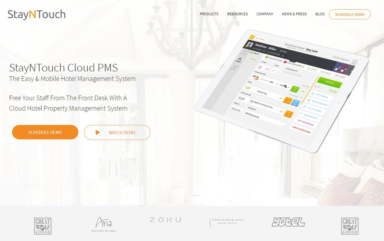 05_A screenshot of the StayNTouch Cloud PMS website