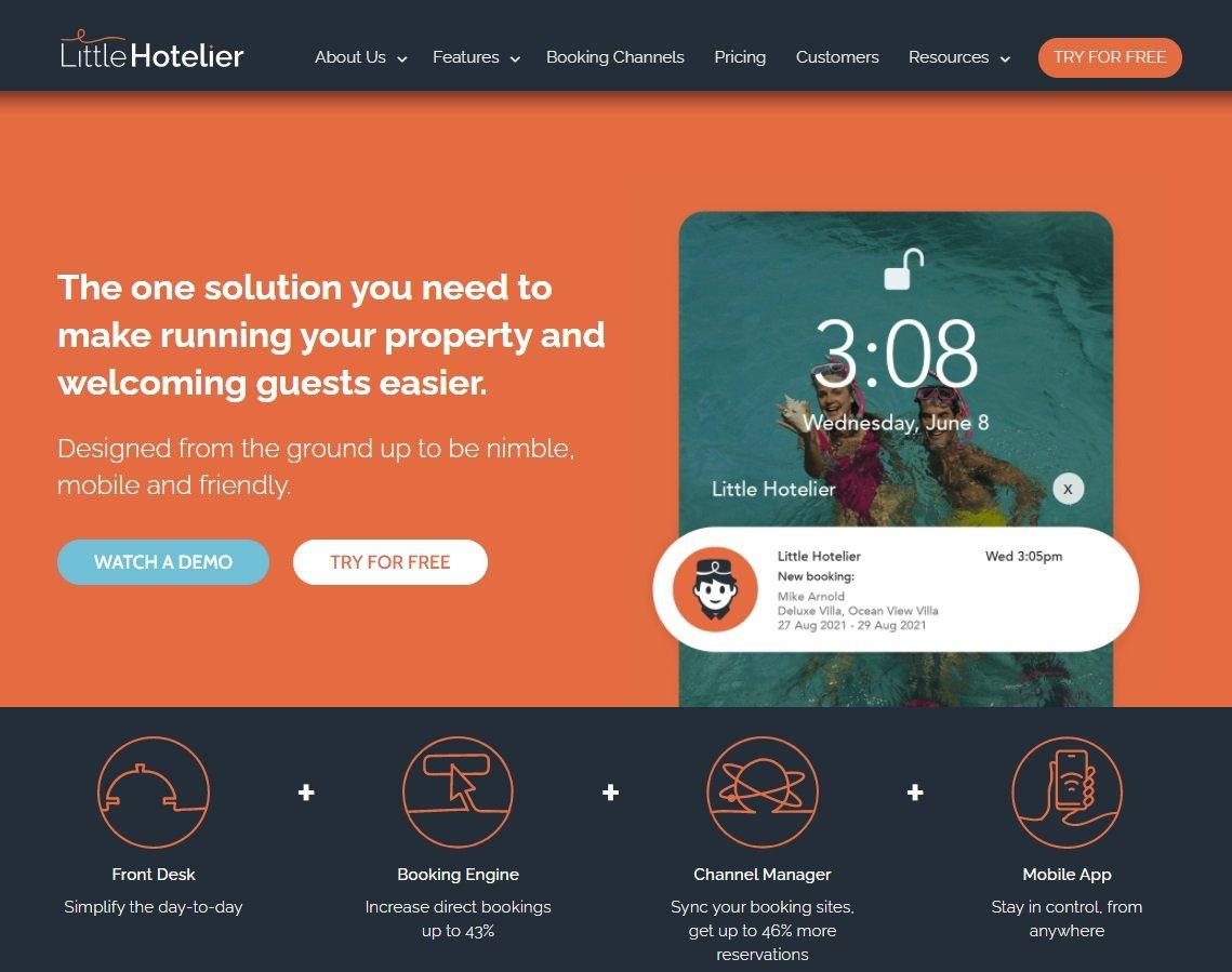 Little Hotelier website screenshot