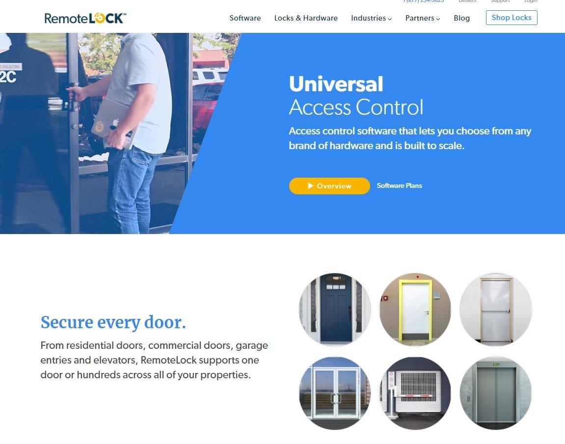 RemoteLock website screenshot