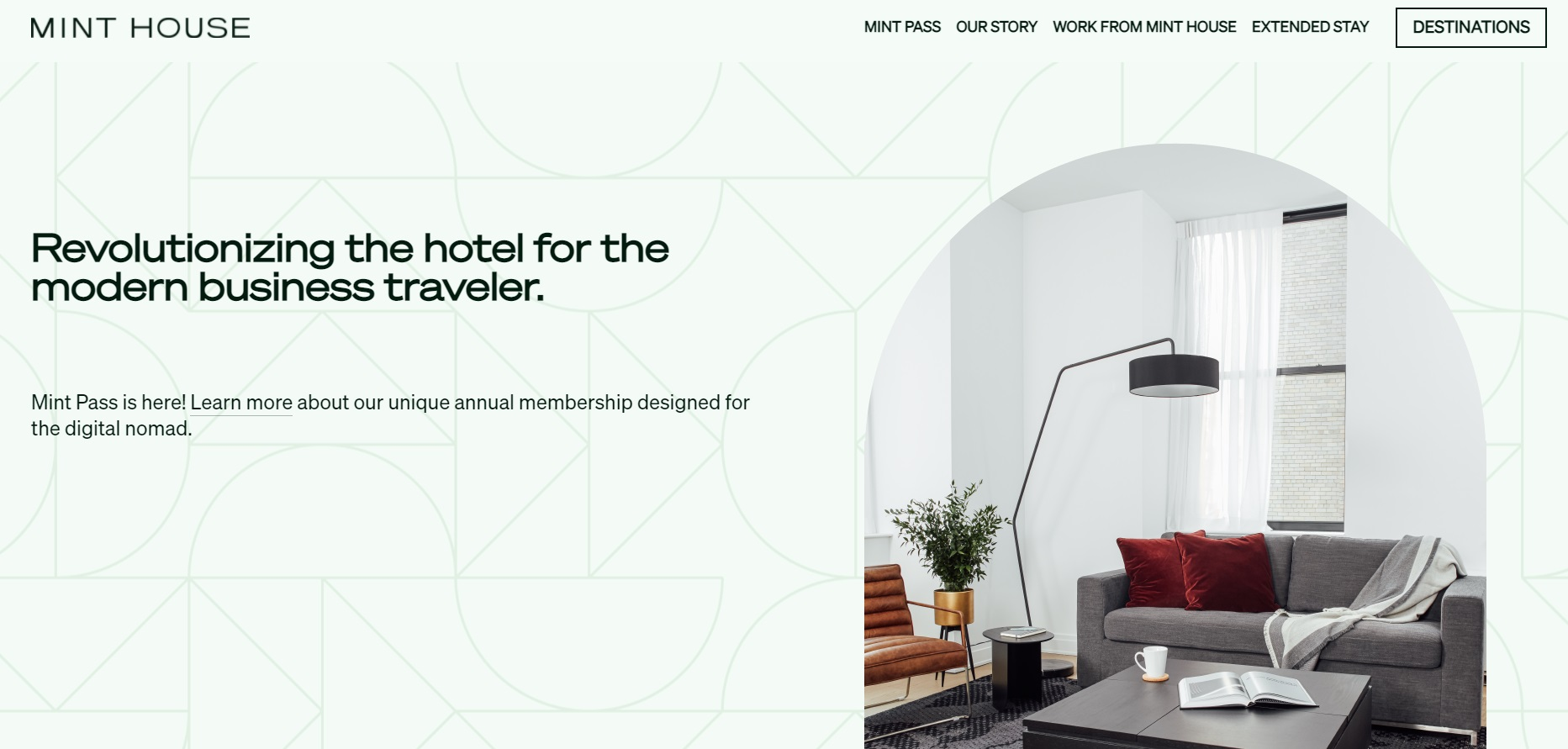 03_A keyless entry app on the Mint House website screenshot