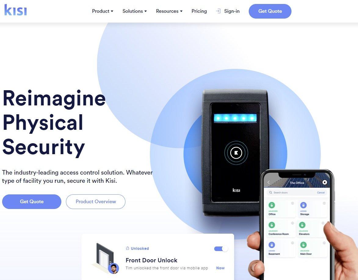 Kisi website Screenshot