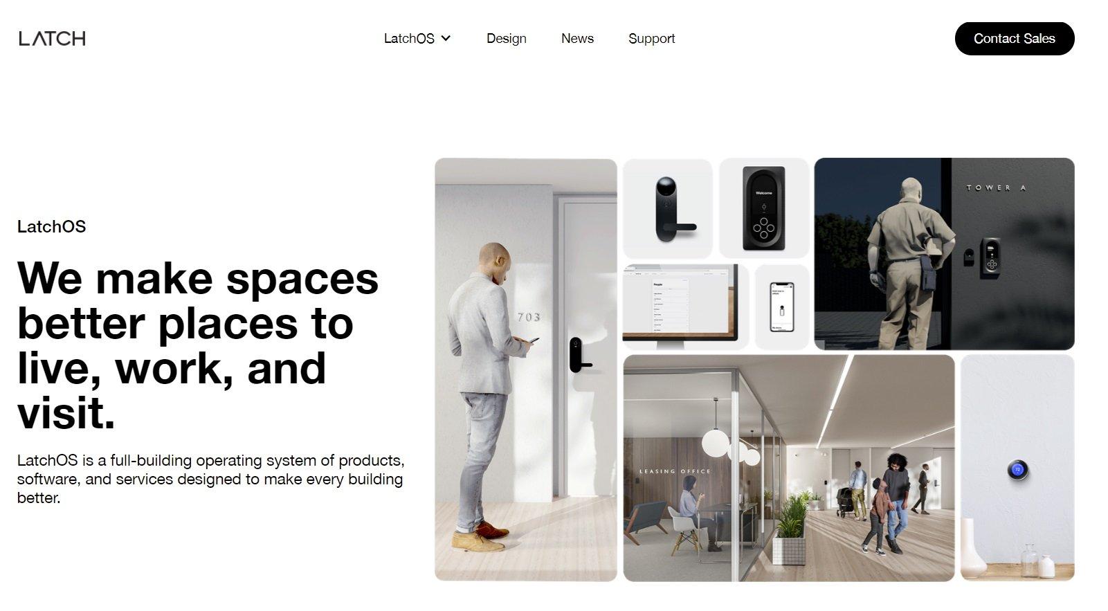 Latch website screenshot