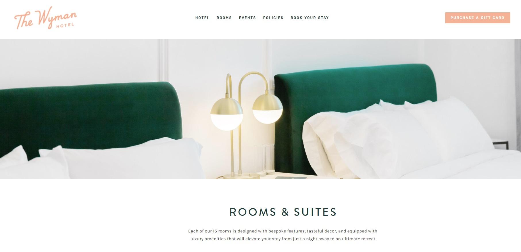 05_Wyman hotel website screenshot