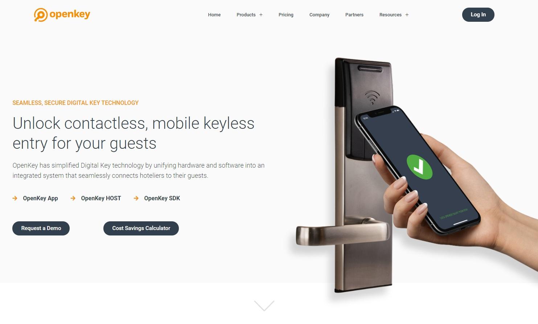 03_OpenKey digital key page screenshot