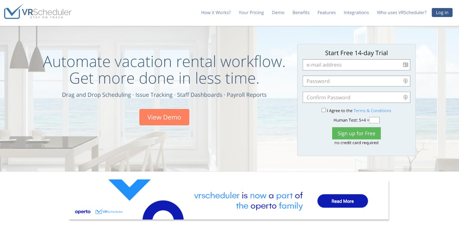 Vacation Rental Cleaning VRScheduler Screenshot
