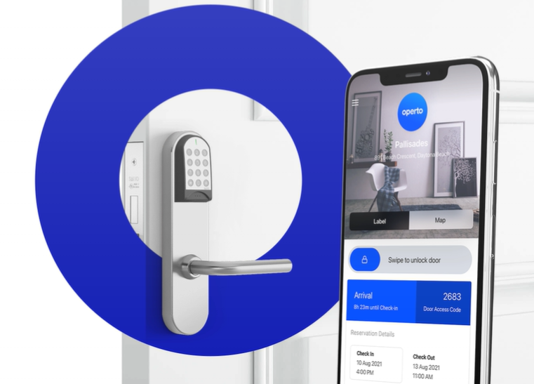 02_Your smart home technology needs to be connected to a central hub. Screenshot of smart lock and Operto phone screen