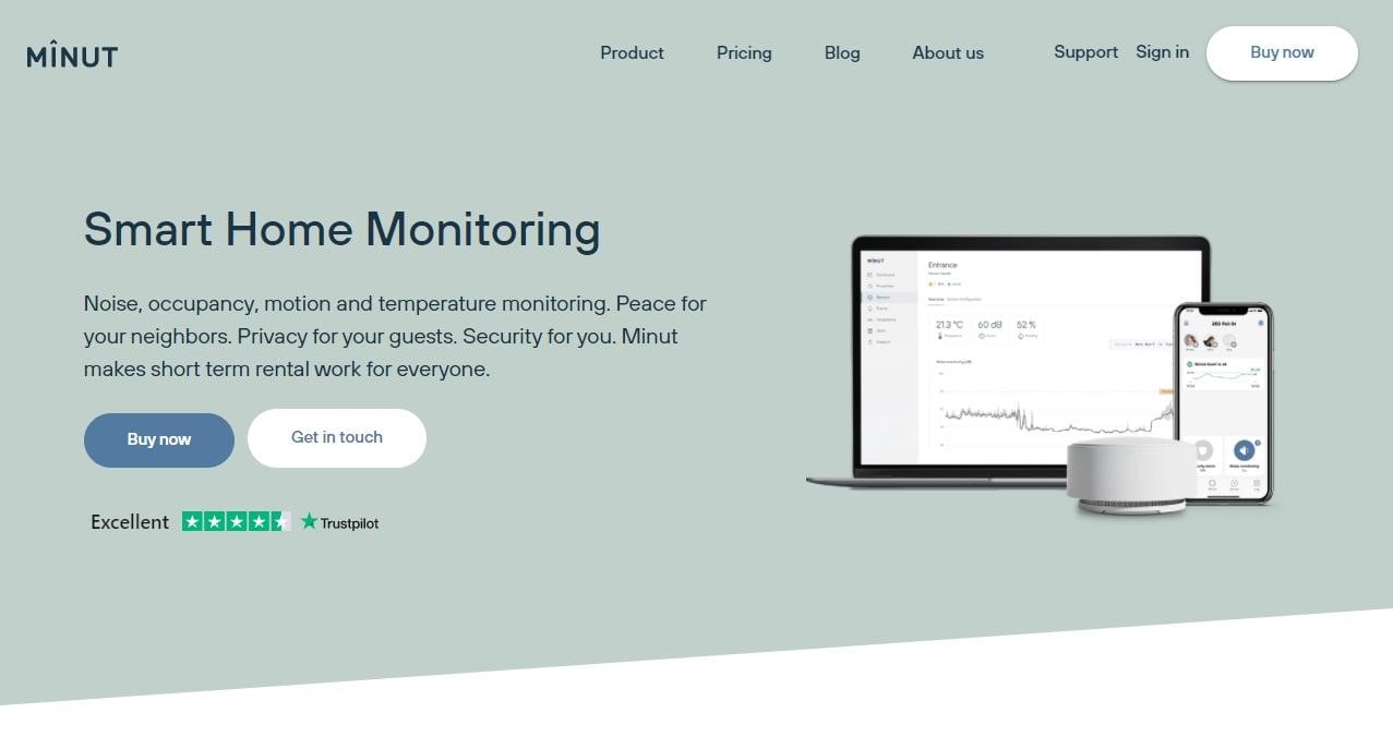 04_A screenshot of the Minut website