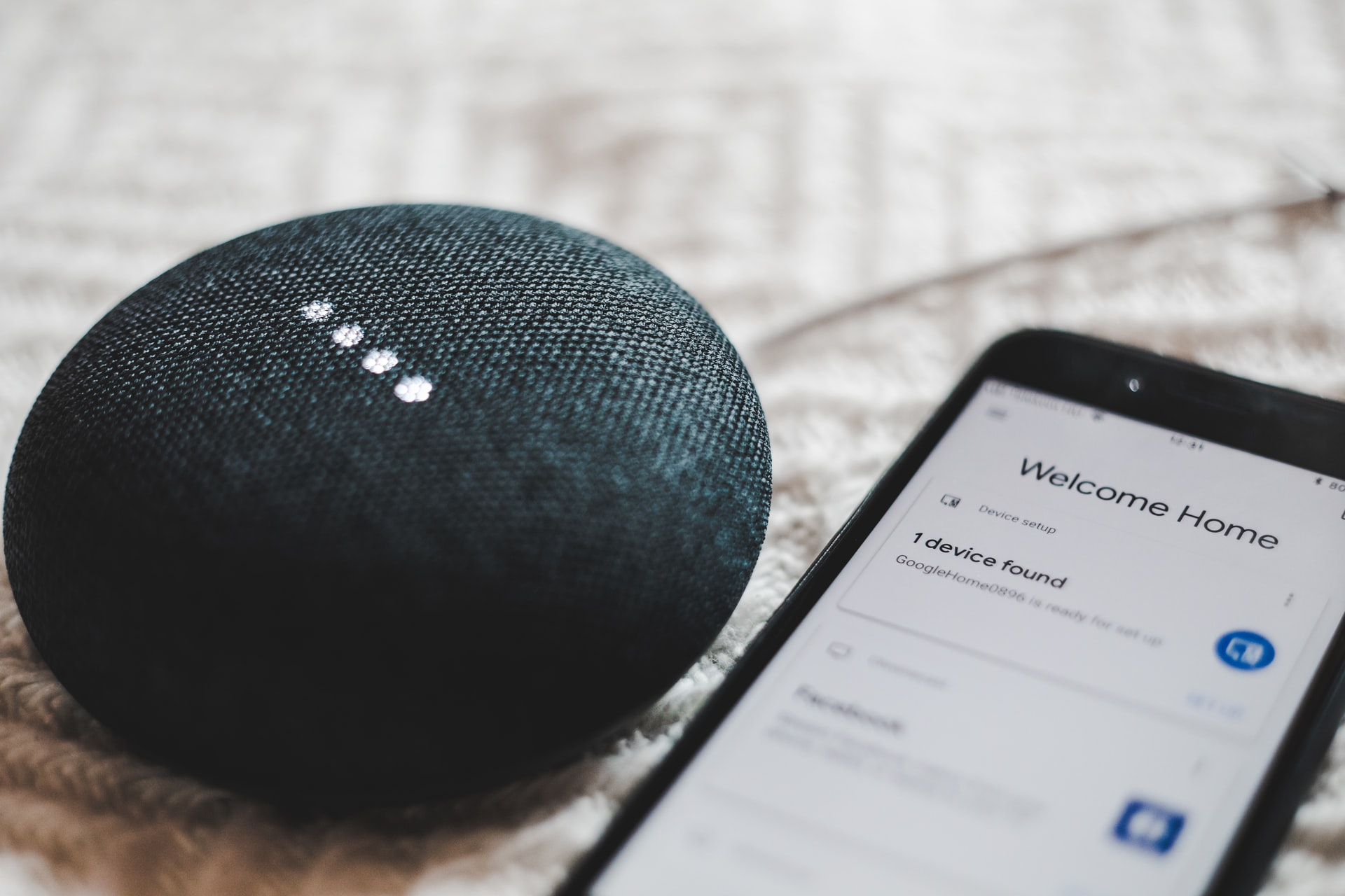 14_contactless check-in for vacation rentals can also be connected to smart speakers. A smart speaker next to a phone