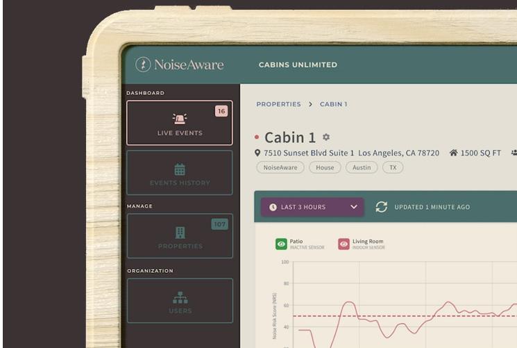 03_NoiseAware screenshot showing Data insights on units