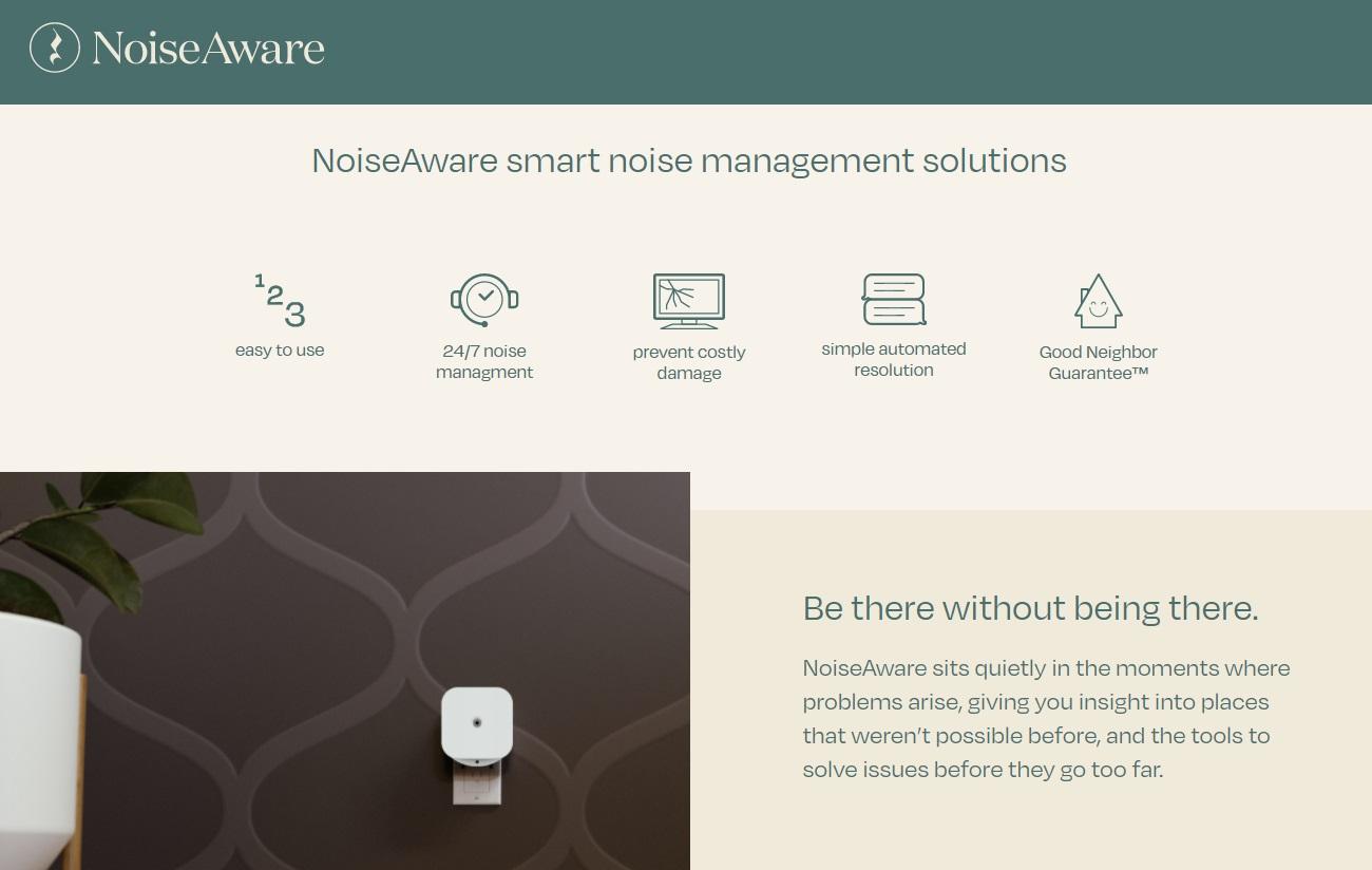 04_NoiseAware homepage screenshot