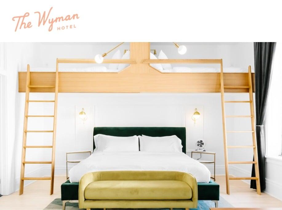 04_The Wyman hotel website screenshot